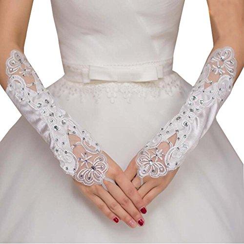 Gants de dentelle Gants de mariage Fleur Gants de dentelle Gant sans doigts