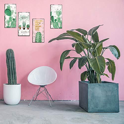 Qingany muurstickers, zelfklevend, om zelf te maken, potten, toiletpot, vinyl, muurstickers, bloempot, cactus, voor woonkamer, decoratie van het huis