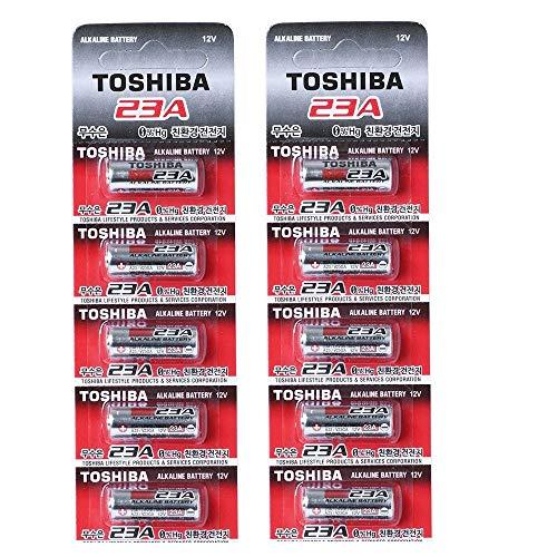 Toshiba Alkaline A23S A23 GP23AE MN21 23GA 12 Volt Battery (10 Batteries)
