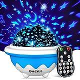 OMERIL Lámpara Proyector Infantil, Luz Estrellas para Niños con Rotación y 8 Modos, Proyector Estrellas con 3...