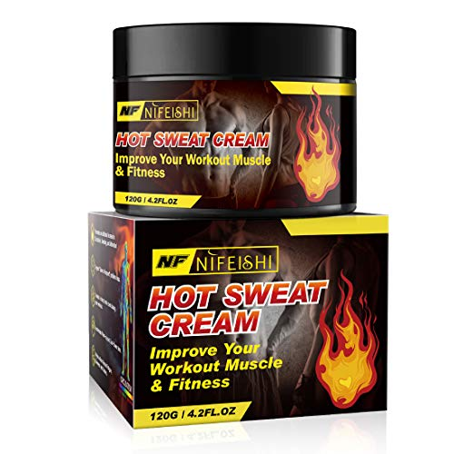 Hot Sweat Cream, Workout Sweat Enhancer, Weight Loss Fat Burner for Women and Men, Slimming Gel, Fat Burner and Natural Anti Cellulite Cream, Improve Your Workout Muscle & fitness-120g