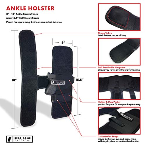 2. Ankle Holster for Concealed Carry | American Company | 4 Styles