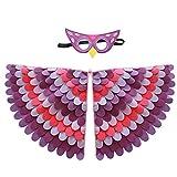 S/V Disfraz Infantil De Pájaro, Disfraz De Loro con Máscara De Expresión De Pájaro, Alas De Pájaro, Disfraz para Carnaval, Cosplay, Fiestas De Disfraces