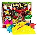 KandyToys Kids Dinosaurio VOLCÁN DE Masa DE MOLDEO Juego Craft Set Modelado DE Cubos DOH