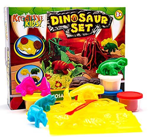 KandyToys Kids Dough Molding Modelling Dinosaur Play Set