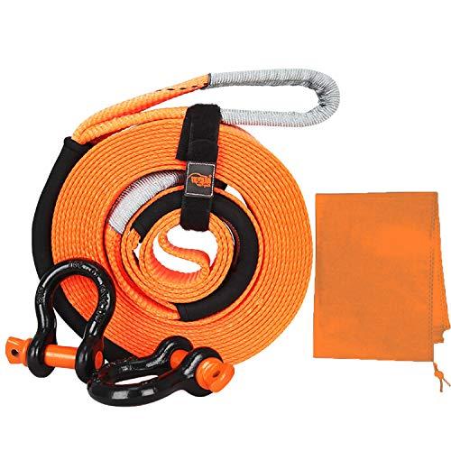 Abschleppseil Abschleppseil Polyester mit hoher Dichte,Auto Abschleppseil Starterkabel,mit 2 Safety Hooks und Aufbewahrungstasche,Recovery Tow Strap Kit,für Auto / SUV / landwirtschaftliches Fahrzeug