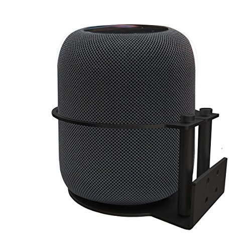 Soporte desmontable del soporte del soporte de la pared de aluminio Metal de MERES para los altavoces de Apple HomePod (Negro)