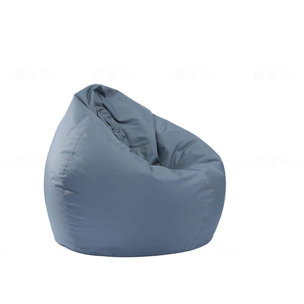MeterMall Home Waterproof Stuffed Animal Storage//Toy Bean Bag Solid Color Oxford Chair Cover Large Beanbag Filling is not Included Blue 60X65CM