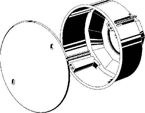 Kaiser Abzweigdose für Leuchte Durchmesser 120mm
