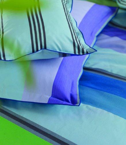 Designers Guild Taie d'oreiller ZATANI - 50X75 cm - Funda para Almohada, 50 x 70 cm, Color Azul