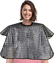 Waterproof Hair Dye Cape,Short Comb-Out Capes for Hair Stylist,Makeup Apron for Hair Color,Bleach,Shampoo and More