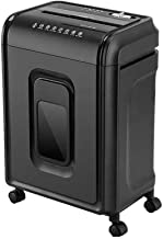 $698 » THMY Heavy Duty Cross-Cut Paper Shredder, 10-Sheet Shredder for Home Small Office Use with Removable Universal Wheels, Cro...