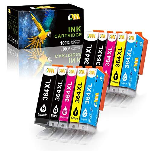 CMCMCM Repuesto para Cartuchos de Tinta HP 364 364XL Compatibles con HP Photosmart 5520 5510 6520 7510 6510 C5388 5522 B8550, HP Deskjet 3070A, HP Officejet 4620 (4B, 2C, 2M, 2Y) Paquete de 10