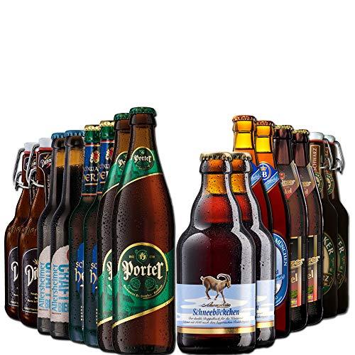 BierSelect Dunkelbier-Paket - 16 dunkle Bierspezialitäten aus ganz Deutschland - Top Biergeschenk Paket zu Weihnachten, Vatertag, Ostern oder Geburtstag für den Mann, Freund, Vater, Opa oder Kollegen
