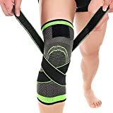 Knee Brace,C-Gardian Compression Support Knee Sleeve with Adjustable Strap Knee Pad for Pain Relief, Meniscus Tear, Arthritis, ACL, MCL,Suit for Running, Cycling, Tennis, Golf and Basketball