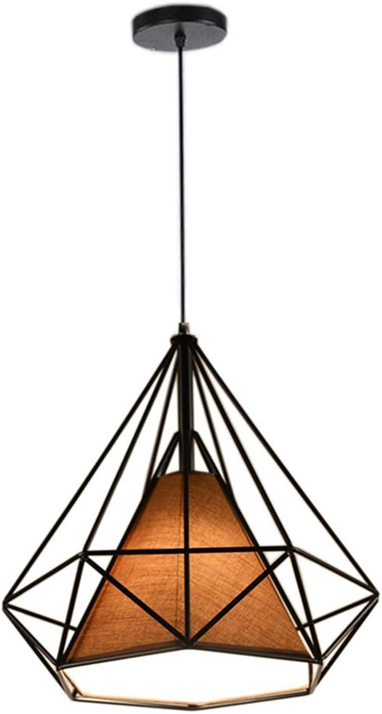 Vintage Pendelleuchten, Vintage Industrial Wind Deckenleuchten, kreative Persnlichkeit Restaurant Bar Kronleuchter, E27 Lampe Schmiedeeisen Pendelleuchten (Farbe   Orange-38cm)