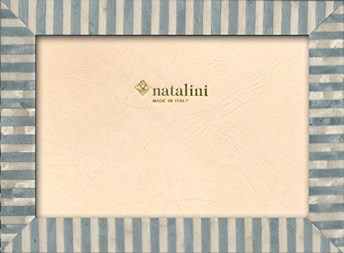 Natalini, KTAZZURRO 10X 15 cm, Marco de fotos con soporte para mesa, madera, azul claro,tamaño exterior 13 X 18 X 1,5 cm