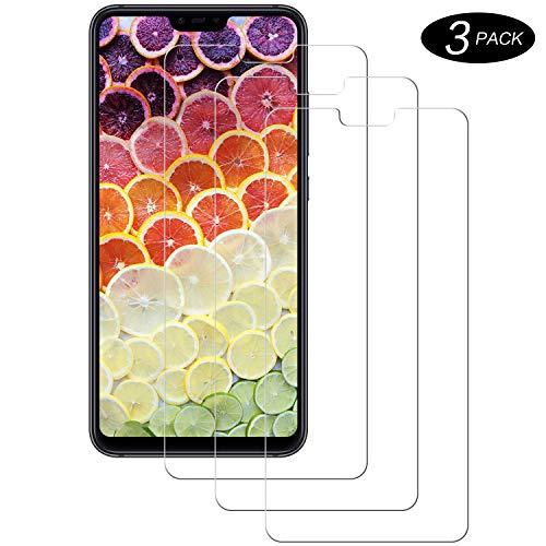 Miuphro [3-Unidades Cristal Templado Compatible con Xiaomi Mi 8 Lite, Protector de Pantalla Xiaomi Mi 8 Lite, [2.5d Borde Redondo][Fácil Instalación][Alta Definicion][9H Dureza]