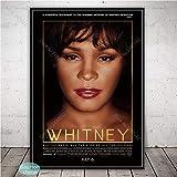 SQSHBBC Schwarz Weiß Whitney Houston Poster Musik Star