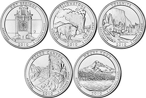 2010 P, D BU National Parks Quarters – 10 coin Set Uncirculated