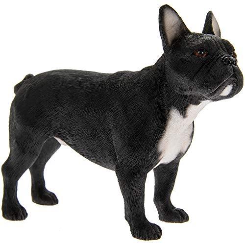 Leonardo Collection Dekofigur Französische Bulldogge, Stein, schwarz, 12 x 4 x 10 cm