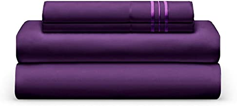 THE BEDSHEET CLUB Sheet Set - Luxury Deep Pocket Sheets - Super Soft Hotel Bedding - Wrinkle, Fade, Stain Resistant - Hypoallergenic (King, Plum)