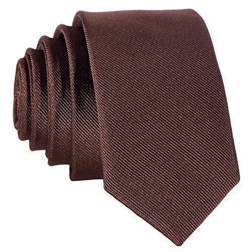 Schmale braune handgefertigte Krawatte 5 cm // verschiedene Farben wählbar