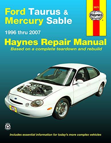 Ford Taurus & Mercury Sable 1996 Thru 2007 Haynes Repair Manual