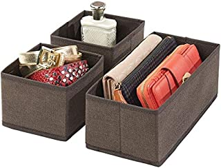 House of Quirk Storage Box Set of 3 Closet Dresser Drawer Organizer Cube Basket Bins Containers Divider with Drawers for U...