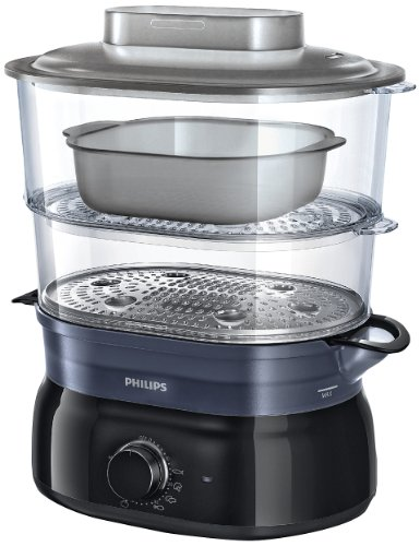 Philips Daily Collection HD9116/00 vaporizador 2 cesta(s) Negro 900 W