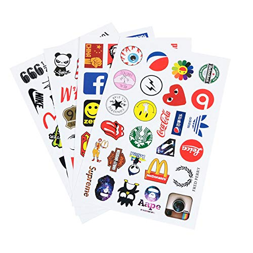 YRSM Mini logotipo pegatinas personalizadas marea teléfono taza portátil tableta decoración impermeable pequeñas pegatinas