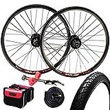 GJZhuan 20 Pulgadas Llantas Bicicleta 406 Juego Ruedas para Bicicleta 32 Hoyos V Freno/Disco de Freno Aleación Aluminio Bici Parte Posterior del Frente de Rueda 8/9 Velocidad (Size : V Brake)