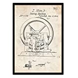Nacnic Poster Patent Nähmaschine 2. Platte mit altem