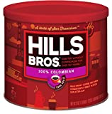 Hills Bros Coffee, 100% Colombian Ground Coffee, Dark Roast, 24 Oz. Can – Roasted 100% Premium Arabica Coffee Beans, Smooth Balanced Flavor