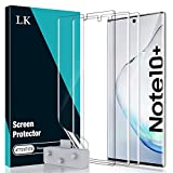 [3 Pack] LϟK Screen Protector for Samsung Galaxy Note 10 Plus/Note 10+ / Note 10 Plus 5G, Flexible TPU Film [Full Coverage] [Case Friendly] [Locate Tool Precise Alignment - (Gray)]