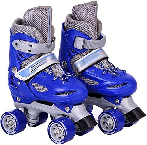 TOPNIU Los Patines para Patines Son adecuados para Patines para niños adaptados a niños y niñas con un cinturón de Bloqueo de Seguridad (Color : Blue, Size : X-Small 23-26)