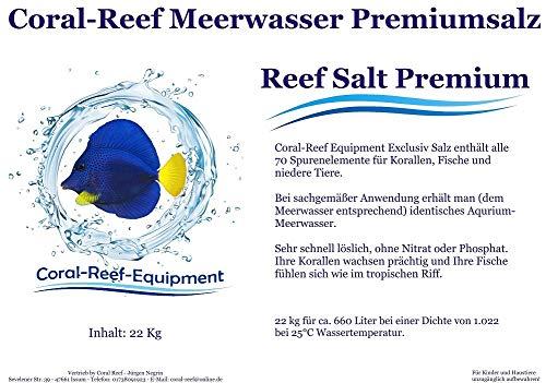 Coral Reef Premium Salz- Meersalz Riffsalz Meerwasser Steinkorallen Salz (Beutel 25 kg)