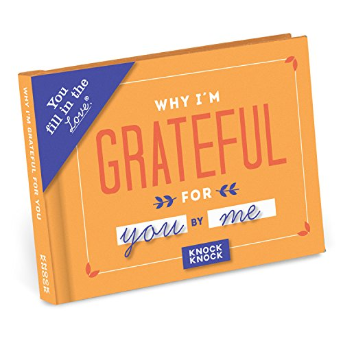 Knock Knock Why I'm Grateful for You Fill in the Love Book Fill-in-the-Blank Gift Journal, 4.5 x 3.25-inches