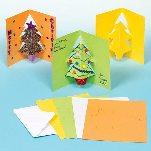 Baker Ross G793 kerstkaarten voor het versieren en versieren van de kerstboom, 8 stuks, gesorteerd