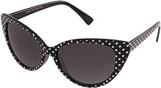 Polka Dot Cat Eye Womens Mod Fashion Super Cat Sunglasses