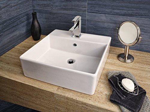 American Standard 552001.02 0552001.020 Loft Above Counter Sink with Faucet Hole, White