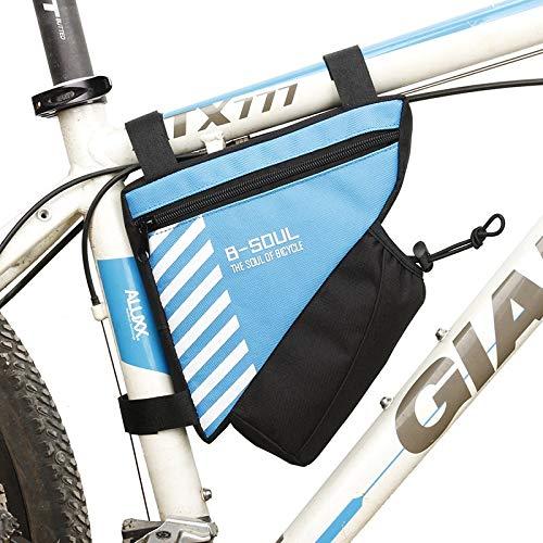Bolsa de Silla de Montar, Bolsa de triángulo de Bicicleta Impermeable for Bicicleta Bolsa de Marco Frontal Ciclismo Bolsa de Tubo Superior Botella de Agua Bolsillo Accesorios de bicicl