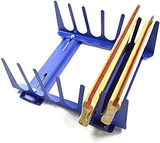 Techtongda 6 Layers Desktop Screen Printing Squeegee Rack Silk Screen Squeegee Scraper Spatula Steel Holder Organizer