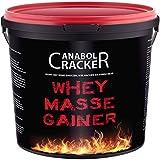 Whey Masse Gainer, Eiweisspulver Proteinshake, 3000g Eimer, Erdbeere, Toffi oder Vanille Geschmack, Sonderangebot (Erdbeere)