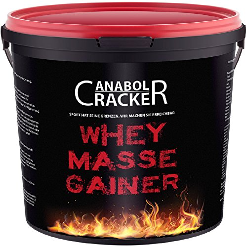 Whey Masse Gainer, Eiweisspulver Proteinshake, 3000g Eimer, Erdbeere, Toffi oder Vanille Geschmack, Sonderangebot (Vanille)