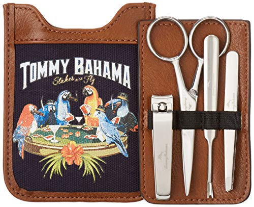 Tommy Bahama Men's Toiletry Travel Kit Hanging Bag with Zipper Pocket, Navy Casual, One Size