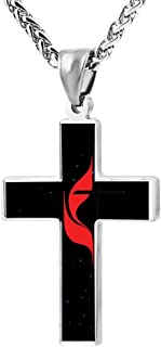 united methodist cross pendant