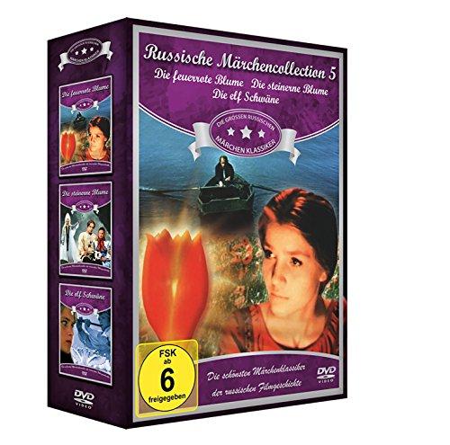 Russische Märchen-Collection 5 (3er-Schuber: Die feuerrote Blume - Die steinerne Blume - Die elf Schwäne) [3 DVDs]