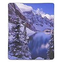 マウスパッド 防塵 耐久性 滑り止め 耐用 ゴム製裏面 軽量 携帯便利 ノートパソコン オフィス用 ゲーム用 (180*220*3mm) 雪をかぶった山々