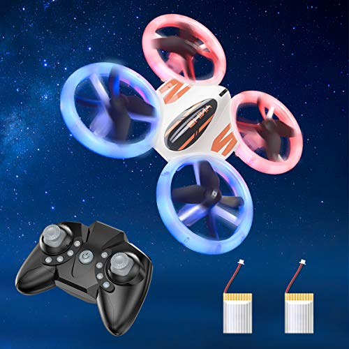 Mini Drone for Kids and Beginners - KOOME Upgraded Q8 LED Drone, RC Nano Pocket Quadcopter, Easy to Fly for Kids, Auto Hovering, 3D Flips, One Key Return, Long Flight Time & Long Control Range